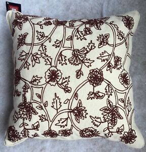 "CHAPS Home Throw PILLOW Size: 16 x 16"" New SHIP FREE Bedding CHANDLER PAISLEY"