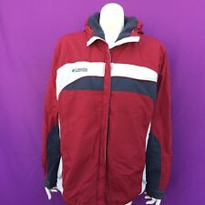 COLUMBIA women's fashion red hooded warm coat size--L