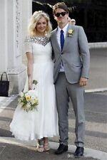 Plus Size A Line Tea Length Wedding Dresses Wedding Gowns Custom size 4-28+