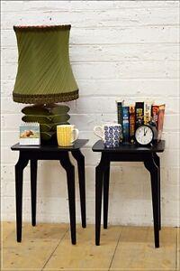 vintage bedside table side table set of 2 mid century danish design black