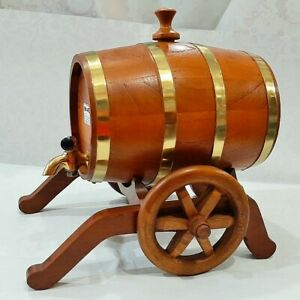 Wooden Barrel small  BARREL 1.5 liter steel band for Wine, Whiskey, Tequila