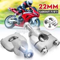 22mm 7/8'' Handlebar Handle Bar Riser Mount Clamps Motorcycle Dirt Bike ATV
