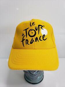 Le Tour De France Adjustable Cycling Cap Hat Unisex NWOT Yellow Stitched