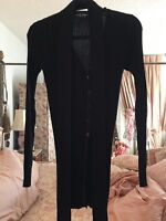 Dolce & Gabbana Black Sweater Thigh Length With Separate Self Belt