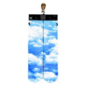 Odd Sox Unisex Socks Blue Sky Clouds Large Size 6-12 Gift Cotton √