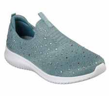 NEU SKECHERS Damen Sneakers ULTRA FLEX Freizeitschuhe Slipper Sportschuhe Grün