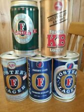 4 25 oz Fosters Cans & 1 Kb Can