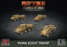 Flames of War BNIB German Puma Scout Troop - Late War GBX172