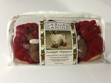 East Side Collection By Casual Canine. Holiday Slippers. Size Small