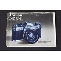 Canon AE-1 Anleitung / Bedienungsanleitung / Gebrauchsanweisung DEUTSCH