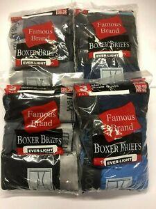 FRUIT OF THE LOOM MEN 12 PK EVER-LIGHT BOXER BRIEFS IN FAMOUS BRAND  BAG