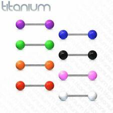 Piercing Language Barbell Titanium G23 Balls Acrylique UV