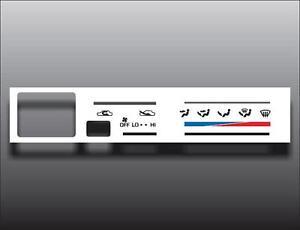 1992-1995 Toyota 4Runner White Heater Control Switch Overlay HVAC
