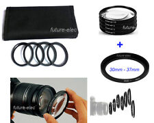 30-37 Step Up Ring+ Close-up Filter Macro +1 +2 +4 +10 For 30mm 37mm Camera Lens