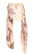 Sandy Brown / Intricate Graphic Floral Pattern Print Statement Scarf(S15)