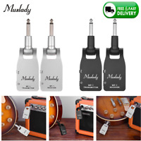 Muslady 2.4G Wireless Guitar System Transmitter & Receiver Built-In Battery I2Y2