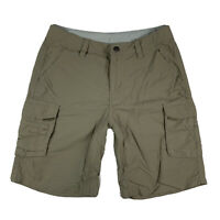 REI Women 4 Cargo Hiking Camping Shorts Activewear Pockets Mid Rise Beige