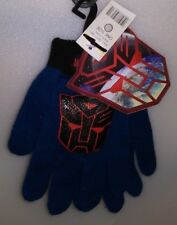 TRANS FORMERS 1 PAIR KIDS KNIT GLOVES AUTOBOTS 1 SIZE BLUE WITH BLACK & RED A-16