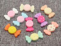 25 Mixed Color Flatback Resin Sweet Cute Candy Cabochon 30X16mm DIY Embellishmen