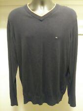 Tommy Hilfiger vintage Men's Blue Crewneck Knit Sweater Flag Logo Size Large