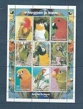 Niger  faune  oiseaux péroquets  en feuillet  1998  num:   1247/50  **