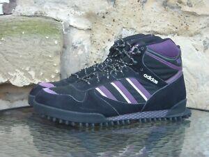 2008 Adidas Originals Marathon TR Mid UK10 / US10.5 Rare Black Purple Vintage