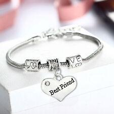 Lovely Silver Tone Best Friend Charm Bracelet.Stunning In Organza Gift Bag...