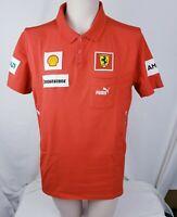 Puma Scuderia Ferrari Official  Mens Polo Shirt XL Red White Bridgestone Racing
