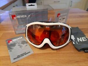 BNIB Nevica Meribel Goggles White Ski Anti Fog UV Protection Snowboard  adult