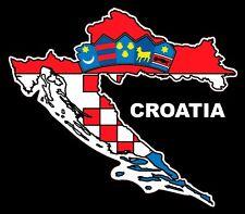 Voiture Croatie Autocollant Sticker Hrvatska Croatia Drapeau Fanion Carte grb