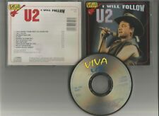 U2 - I will follow CD RARE LIVE FOR FANS Indie press 1993 Sunday bloody, Pride