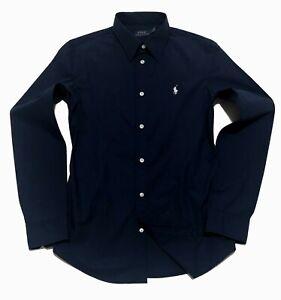 Ralph Lauren Ladys Slim fit Shirt Navy Matt Blue US2, US4, US6, US8, US10, US12