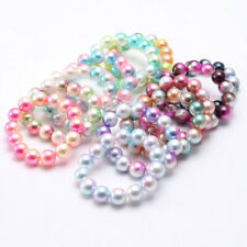 Chunky Color Bubblegum Acrylic Pearl Round Beads Children Bracelet Jewelry Toys