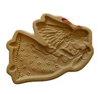 Ceramic Angel Brown Bag Cookie Art Mold 1986 Hill Design Christmas Xmas Baking