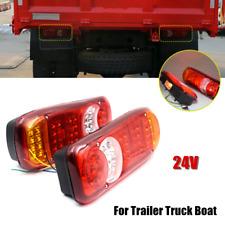 2PCS Rear Truck LED Lights 24V Stop Reverse Indicator Fog Lamp Fits Boat Trailer