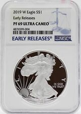 2019-W American Eagle Proof Silver 1 oz NGC PF69 Ultra Cameo Early Release JB576