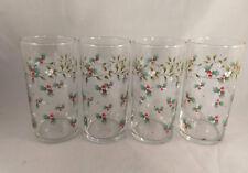 Set of 4 Pfaltzgraff Winterberry 16 Ounce Coolers Glasses