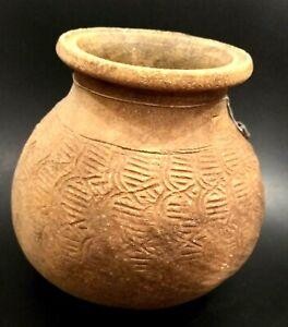 Ancient Ban Chiang Pottery Lidded Jar - THAILAND - 1500 to 1200 BC