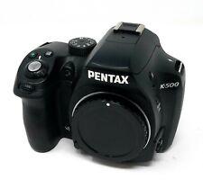 Pentax k-500 16.3mp DSLR-Black Body Only
