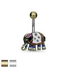 Markenlose Piercing-Schmuck aus Emaille mit Zirkonia