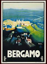 1927 Bergamo Italy Italian Vintage Travel Advertisement Art Poster Print