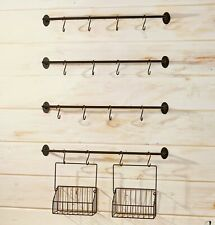 Wall Rack for Coffee Mugs, Tea Cups with Industrial Pipe Style - 6 Pieces