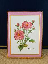 Large Halcyon Days Enamel Over Copper Hinged Trinket Box - Pink Roses Design