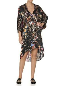 CAMILLA Blushing Manor V Neck Dress With Draped Back RRP $699