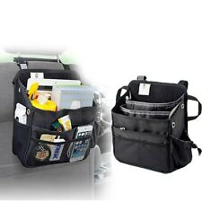 Black Car Seat Back Bag Organizer Storage CUP iPad Phone Holder Multi-Pocket