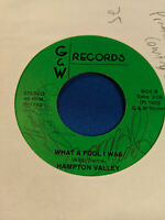 Hampton Valley 45 What a Private Nashville, Indiana Country Rock AM Gold NM-