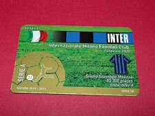 RARE FOOTBALL CARD FOOT2PASS 2010-2011 INTER MILAN CALCIO SERIE A MILANO