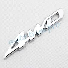 Car Accessories 3D Decal Sticker 4WD 4 WD Logo Emblems Badge Chrome Metal Trim