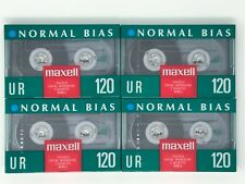4 MAXELL UR 120 AUDIO CASSETTE TAPE Normal Bias NEW