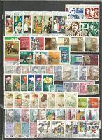 DDR 1974 gestempelt komplett  mit allen Einzelmarken  SUPER- Stempel+ PF ( 60-€)